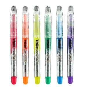 白雪斧型笔头荧光笔 6支装 6支装